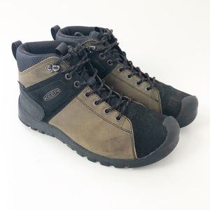 Keen Brown Leather Midi Height Waterproof Boots